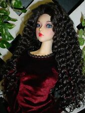 "Doll Wig, Monique Gold ""Mallory"" Size 8/9 in Nearly Black - Amazing Flip Wig!"