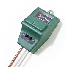 3 in 1 PH Tester Soil Water Moisture Light Luxmeter Test Meter for Garden FlowB5