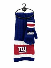 New York Giants Scarf & Glove Gift Set [NEW] NFL Hat Winter Cold Scarve