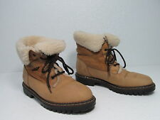 BLONDO LEATHER SHEEPSKIN ANKLE BOOTS TAN SIZE WOMEN'S 8.5 B MADE IN CANADA