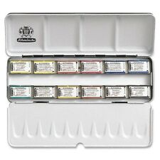 Schmincke Horadam Artists Watercolour 12 Full Whole Pan Metal Box Set - 74312097