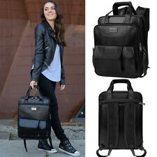 "Black 13.3""Convertible Laptop Backpack Bag For Apple Macbook Pro/Air 13.3in"
