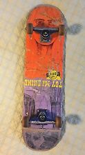 "VINTAGE 90's TOY MACHINE COMPLETE 6EYED ALIEN SKATEBOARD VENTURE TRUCKS 31""X8"""