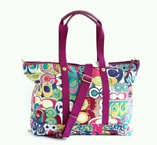 NWT COACH XXL POP C TRAVEL BAG Poppy Multi Color Duffle Bag F77306