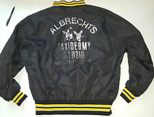 Vintage Retro Taxidermy Studio satin style  jacket Men's size L hipster