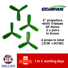 "Gemfan Propellers Quad Props 4"" 4045 BN Triblade x4 2 Pairs Green GFN 180 UK"