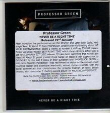 (CS621) Professor Green, Never Be A Right Time - 2011 DJ CD