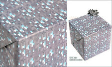 Minecraft Diamond Wrapping Paper Pack Gift Wrap (3 Sheets) Official Licensed