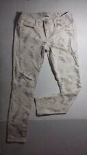 Womens AMERICAN EAGLE stretch jegging white multi color sz 8