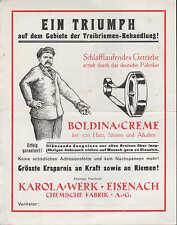 """EISENACH, Werbung um 1927 für """"BOLDINA""""-Lederöl u. -Creme, Karola-Werk AG"""