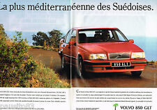 PUBLICITE ADVERTISING 065  1992  VOLVO 850 GLT  ( 2 pages)