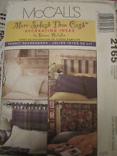 McCALL 2165 FABRIC HEADBOARDS HOME DECOR IDEAS SEW PATTERN 4 STYLES UNCUT!!