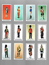 CIGARETTE/TRADE/CARDS. Nabisco. BRITISH SOLDIERS. (Complete Set of 12). (1971).