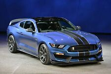 2016 Ford Shelby GT350R Mustang (Blue) POSTER 24 X 36 INCH Looks Awesome!