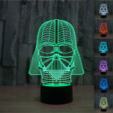 3D bulbing Star War Darth Vader Night 7 color change LED desk table light lamp