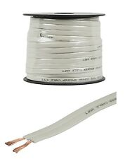 50' feet 16 Gauge AWG Pure Copper Flat 2-Conductor Speaker Wire Audio Cable