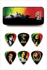 Dunlop Bob Marley Collectible Guitar Picks in Tin - 6 picks - Rasta Series Heavy