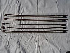 OLD/VINTAGE VIOLIN BOWS  5 FOR REPAIR/RESTORE GOTZ,SCHUSTER,BAUSCH ,LUPOT,TOURTE