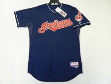 Authentic Majestic 40 MEDIUM, CLEVELAND INDIANS BLUE, COOL BASE ON FIELD Jersey