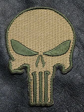 PUNISHER SKULL TACTICAL COMBAT SEAL TEAM 3 INCH  MORALE HOOK PATCH
