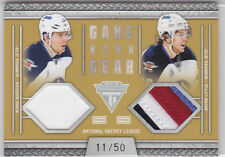 2011 11-12 Panini Titanium Game Worn Gear Dual Jersey Prime Wheeler/Little 11/50