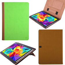 "Green/Brown PU Tablet Stand Cover Folio Case for Samsung Galaxy Tab S2 10"" 10.1"""