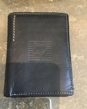 CUTE ANNA & ROBERT BLACK & TAN LEATHER  BI FOLD WALLET / USED GOOD CONDITION
