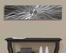 Silver Contemporary Metal Wall Art Home Accent by Jon Allen - Celestial Energy