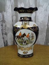 Große China Porzellan Vase mit Reiter Motiv,Druck-und Handmalerei,unbenutzt