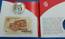 1998 Singapore Bus Services 25th Anniversary 20 gm 925 Silver Proof Medallion
