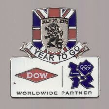 2012 Dow 1 Year To Go Olympic Pin