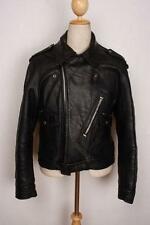 Vtg 1960s BRITISH CYCLE LEATHERS D-Pocket Motorcycle Biker Jacket Medium