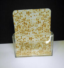 Embellished by Me/One-of a Kind~Clear Acrylic Open Matzah Stand-Up Tray/Holder