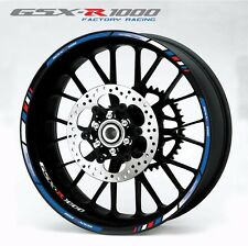 Suzuki GSX-R 1000 motorcycle wheel decals 12 rim stickers Laminated set gsxr