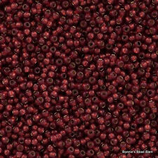 8/0 Silver-Lined Milky PomegranateToho Round Glass Seed Beads 15 grams #2113