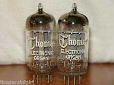 2 Thomas Amperex ECC82 12AU7 w/Foil Strip D-Getter Long Pl Vacuum Tubes 1500/190