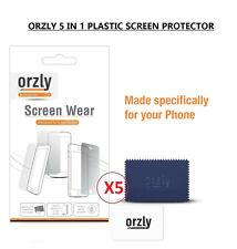 Orzly 5 in 1 MultiPack Screen Protector Guard Clear Plastic For BLACKBERRY 9700