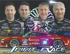 2014 IMSA Rolex Daytona 24 Spirit of Race #49 Ferrari 458 Hero Card  SIGNED