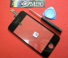 Kit VETRO + TOUCH SCREEN per APPLE IPHONE 3G A1241 per DISPLAY LCD COVER NERO