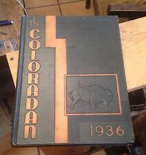 The COLORADAN 1936 University of Colorado BOULDER Yearbook FREE US SHIPPING Rare
