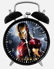 "Ironman Iron Man Alarm Desk Clock 3.75"" Room Decor Y23 Nice for Gifts"