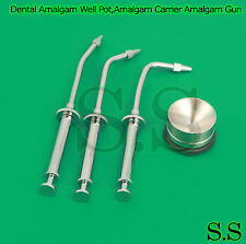 Dental Amalgam Well Pot,Amalgam Carrier Amalgam Gun Restorative Dental Tools Kit