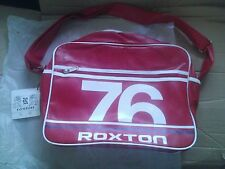 Red RETRO MESSENGER BAG Roxton 76 LAPTOP SCHOOL WORK  SHOULDER BAG MENS WOMENS