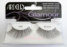 NIB~ Ardell Glamour Lashes #119 False Fake Eyelashes Black Long Fashion