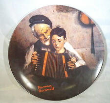 "Norman Rockwell ""The Music Maker"" 8.5"" plate. plate # Ag19424"