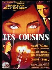 Affiche 120x160cm LES COUSINS (1959) Chabrol - Gerard Blain, Brialy - RESS NEUVE