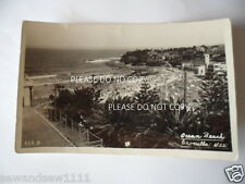 ANTIQUE 1948 VINTAGE PHOTO POSTCARD OCEAN BEACH CRONULLA NSW WITH STAMP POSTED