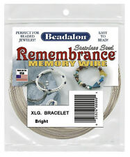 MEMORY WIRE BEADALON EXTRA LARGE BRACELET STAINLESS STEEL 1 OZ PACKAGE X-LARGE
