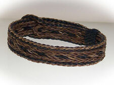 Braided Horse Hair Bracelet One Size Fits All Earth Tones WIDE