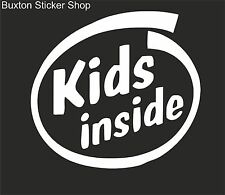 KIDS INSIDE Vans Surf Car Vinyl Decal Sticker EURO JDB DUB VW Funny Jap StarWars